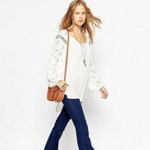 Free People Golden Nugget Top with Beaded Detail
